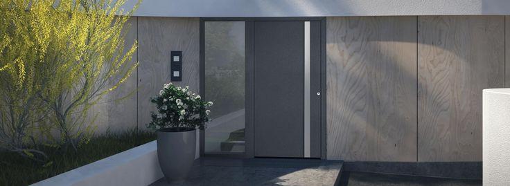 Znalezione obrazy dla zapytania drzwi aluminiowe wejsciowe