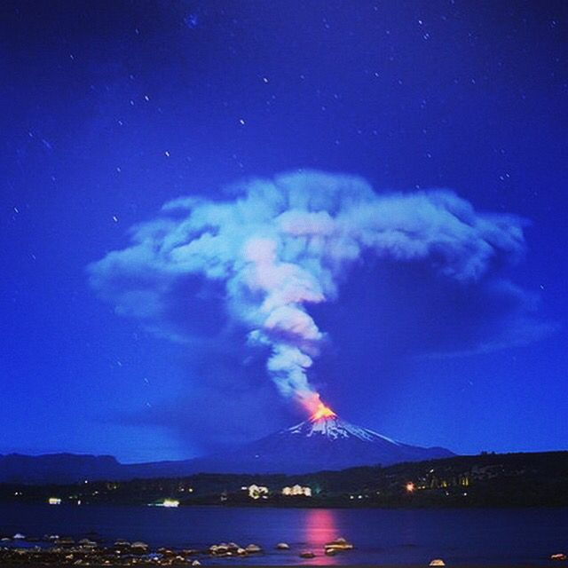 Amazing, the Villarrica volcano , Chile