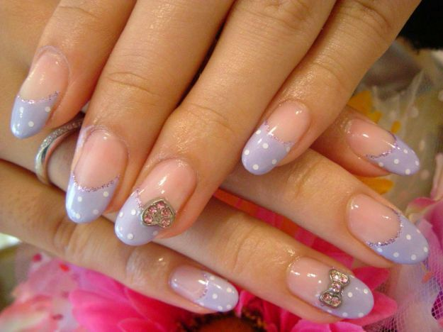 Дизайн френча в виде капель и точек ::: onelady.ru ::: #nail #nails #nailart #manicure