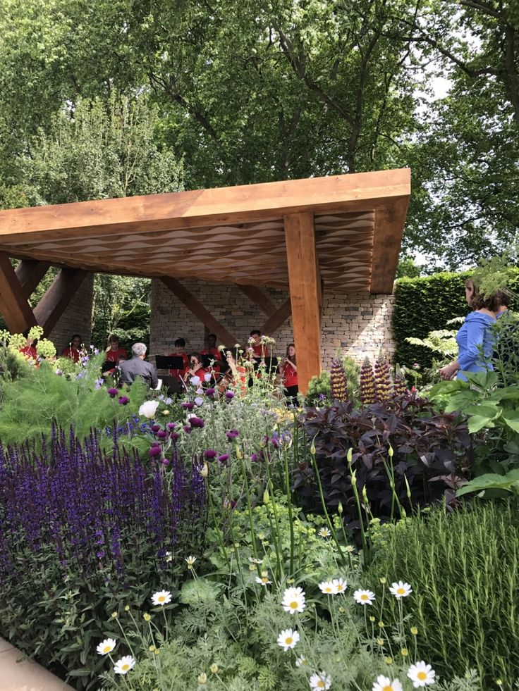 Planting in blocks...lovely The Morgan Stanley garden designed by CHris Beardshaw at the RHS CHelsea Flower Show 2017.