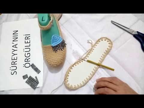 Mavi Göz Kapaklı Ev Ayakkabısı Yapımı - YouTube