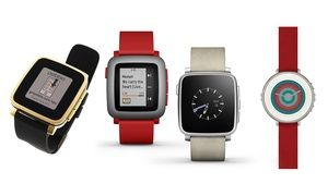 Groupon - Pebble Time Smartwatch for iPhone and Android Devices (Manufacturer-Refurbished). Groupon deal price: $89.99