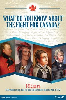 "Image of ""What Do You Know About the Fight for Canada?"" poster.  The accessible…"