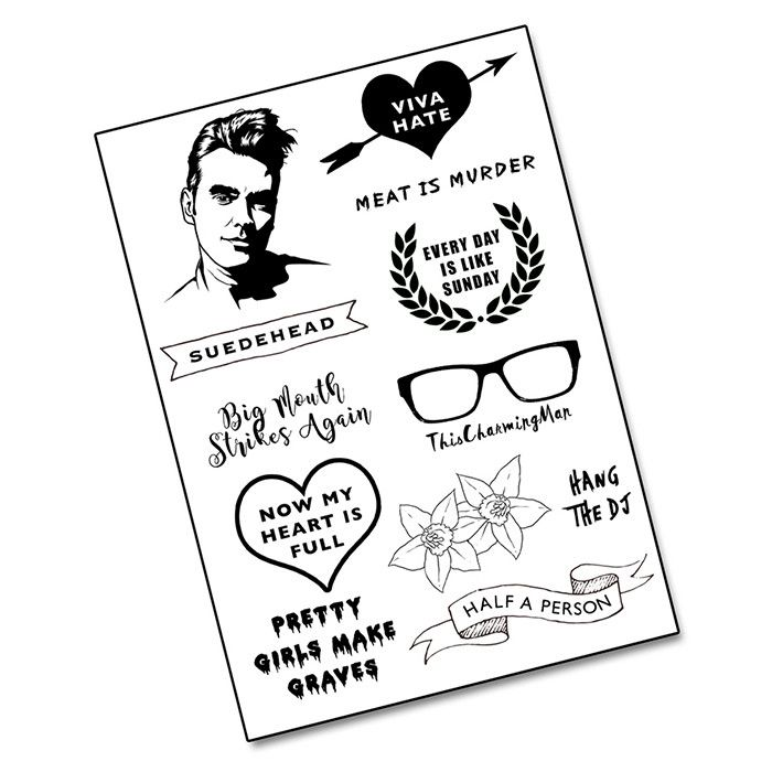 "MOZ morrissey the smiths Tattoo Pack ""Pretty Girls Make Graves"" from LA LA LAND £5.jpg MOZ morrissey the smiths Tattoo Pack from LA LA LAND £5.jpg"