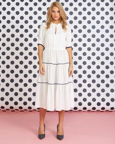 40e74f246b389 Savida Polka Dot Midi Dress | Lovely Little Outfits in 2019 ...