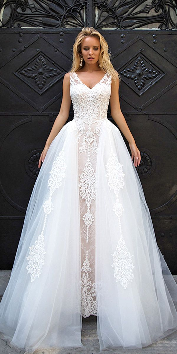 Oksana Mukha Wedding Dresses Collection 2017 ❤ See more: http://www.weddingforward.com/oksana-mukha-wedding-dresses/ #weddings