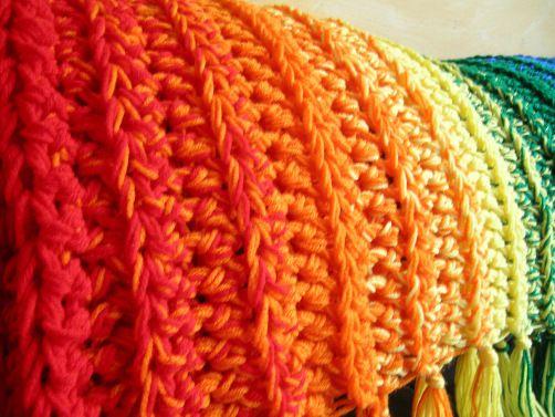 Somewhere Over the Rainbow, #crochet, free pattern, blanket, throw, #haken, gratis patroon (Engels), deken, sprei gehaakt met meerdere draden, regenboog deken, #haakpatroon