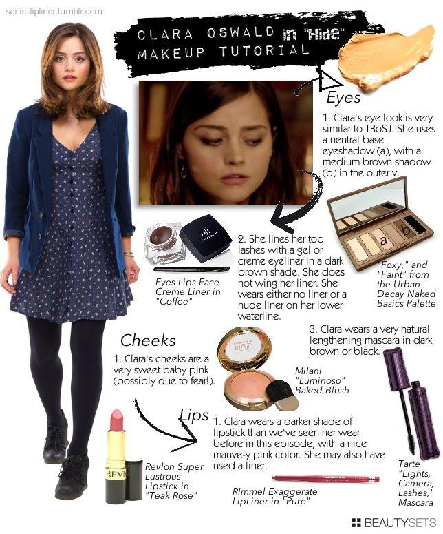 Clara Oswald Makeup. I have that exact eyeshadow palette, so yay!
