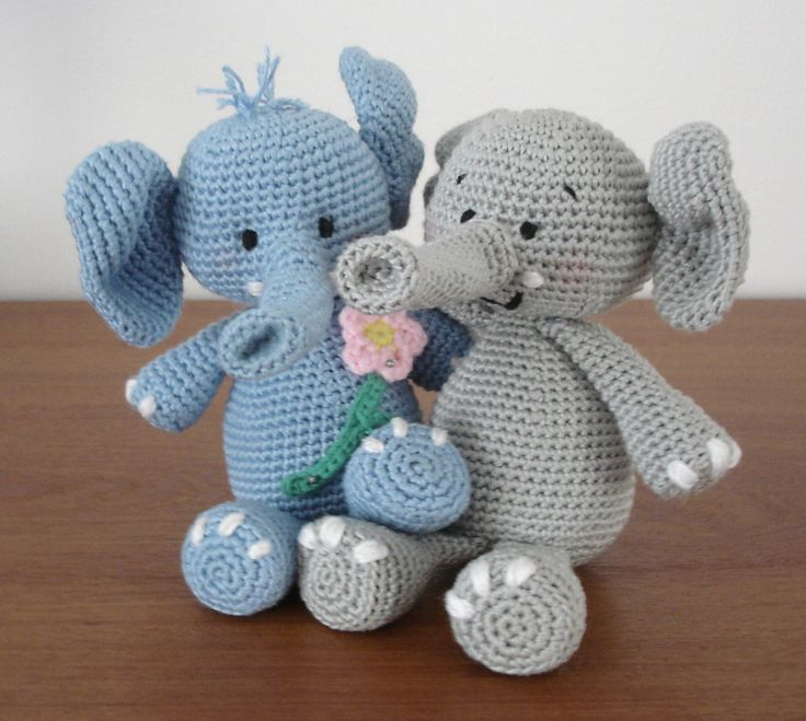Crochet elephant pattern • Christmas stocking ideas