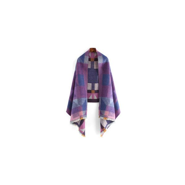 Women's Scarves & Ladies Wrap Shawls-Global SheIn(Sheinside) ❤ liked on Polyvore featuring accessories, scarves, wrap scarves, wrap shawl and shawl scarves