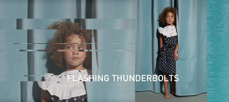 Kid's Wear - Flashing Thunderbolts by Hilda.Henri