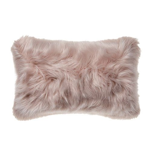 Alpine Fur Long Cushion Dusty Pink