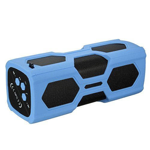 Deals week  PYRUS Outdoor Bluetooth Speaker 3600mAh Portable Power Bank Bluetooth 4.0 with NFC 2x3W Stereo Bass Sound Built-in Microphone Wireless Speakers - Blue Best Selling