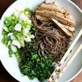 Soba Noodle Salad with Marinated Tofu, Scallions & Mint | alexandra's kitchen