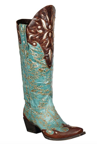 Turquoise and brown Lane Boots from Headwest Outfitters