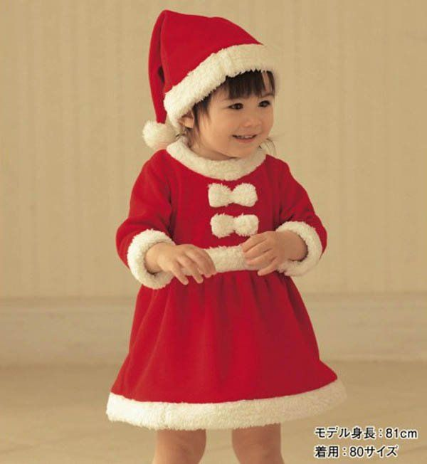 2012 Wholesale New Christmas kids baby clothes suit girls Christmas ...
