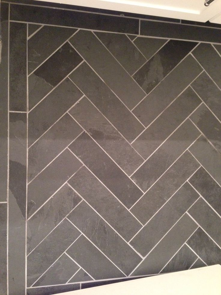 Slate Herringbone Floor Dream Home Pinterest