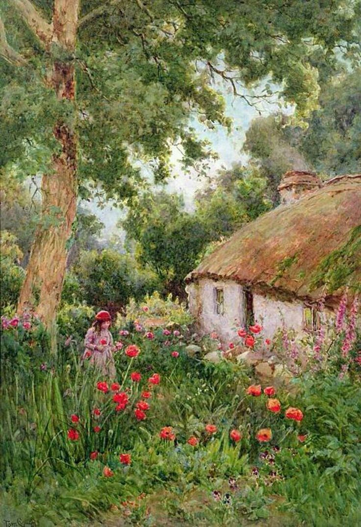 Garden style the english cottage garden where the old - Tom Clough Old Thatched Cottage