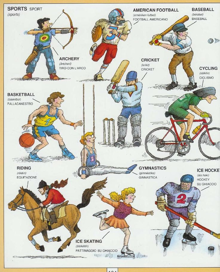 #1351 Parole Inglesi Per Piccoli e Grandi - #Illustrated #dictionary - #sports 1