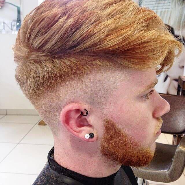 skin fade pompadour haircut