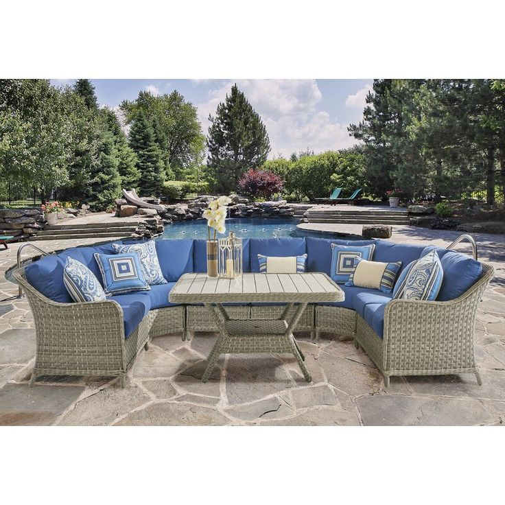 Hyde Park Patio Sectional in 2020 | Teak patio furniture ...
