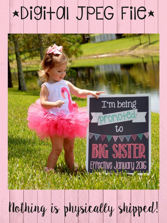 Big Sister Pregnancy Announcement  I'm Being by PersonalizedChalk