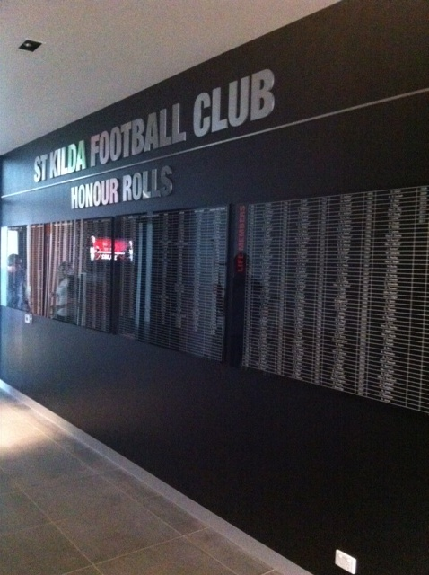 St Kilda Saints Honour Rolls created by Taos #stkildasaints #interior #graphics