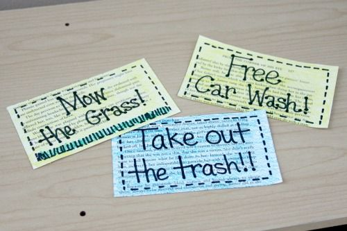 """DIY Father's Day Gift Idea: A Recycled """"Coupon Book"""""""