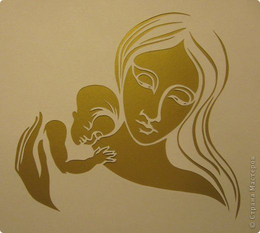 Картина панно рисунок День матери Рождество Вырезание Рождество Звезда Материнство_Lois Cordelia Бумага фото 11