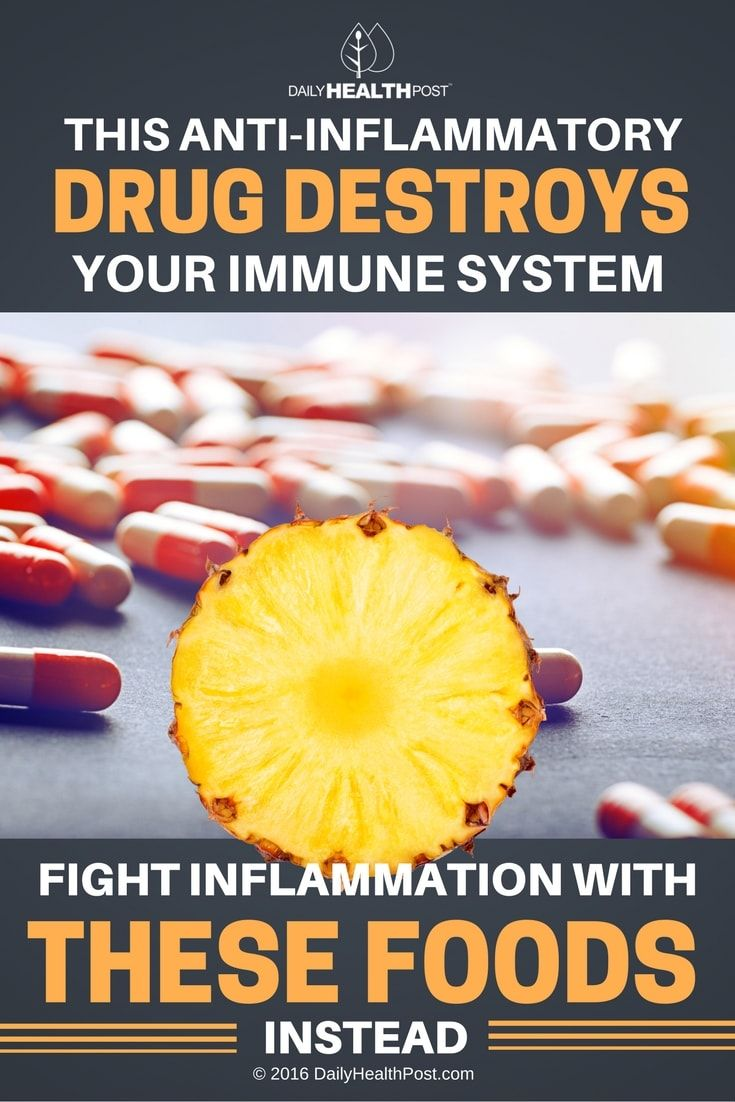 This Anti-inflammatory Drug Destroys Your Immune System, Fight Inflammation With These Foods Instead via @dailyhealthpost