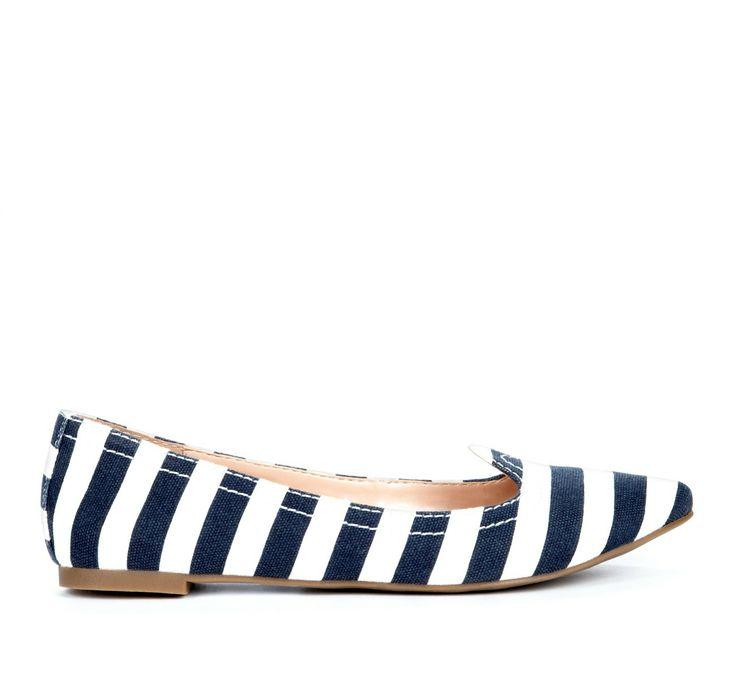 Flat striped shoes