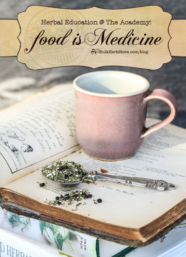 Herbal Education At The Academy: Food As Medicine | Growing Up Herbal | Come learn more about using herbs as a part of your food and medicine!
