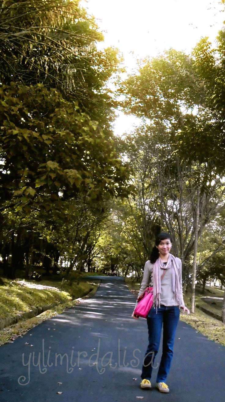 di suatu taman di kota Palembang