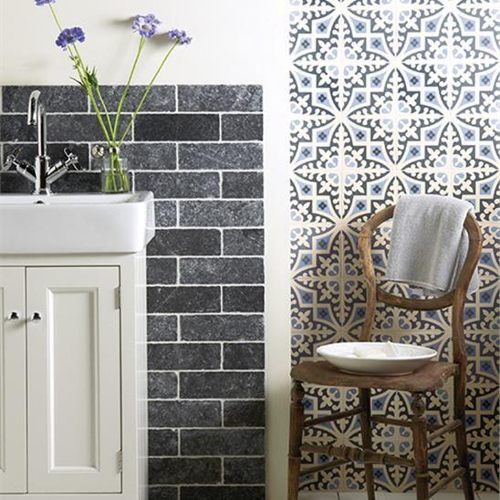 Image result for indigo tile wallpaper