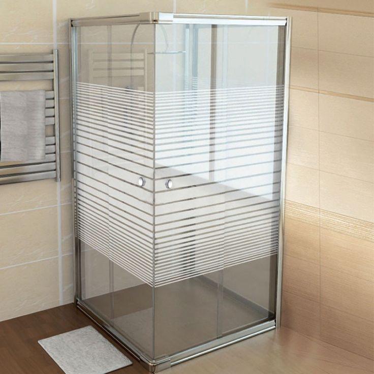 Justmoment box doccia in vetro serigrafato 3 mm e alluminio con ante scorrevoli cm 70x90 bagno - Box doccia ante scorrevoli ...