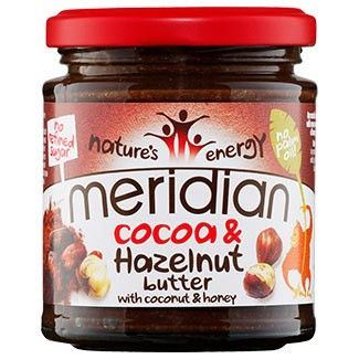 This Cocoa and Hazelnut Butter is the latest addition to the Meridian range, and we're all totally hooked! It's got that rich hazelnut and chocolate flavour you'd expect from typical chocolate spreads, but it's got no added sugars, palm oil or artificial nasties. In fact, it's a great source of calcium, potassium and iron, so it really does have great health benefits! Its ingredients list is simple and wholesome: just hazelnuts, honey, cocoa powder, coconut and a little sunflower oil. This…