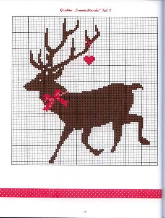 Reindeer Knitting Pattern Chart : 17 Best images about Knitting charts on Pinterest Fair isles, Perler bead p...