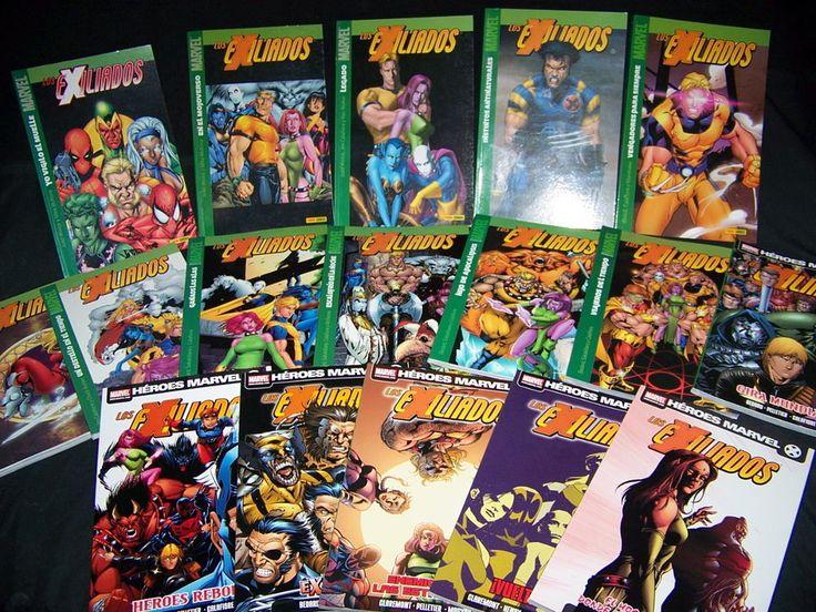 Lote de comics LOS EXILIADOS 17 numeros buen estado