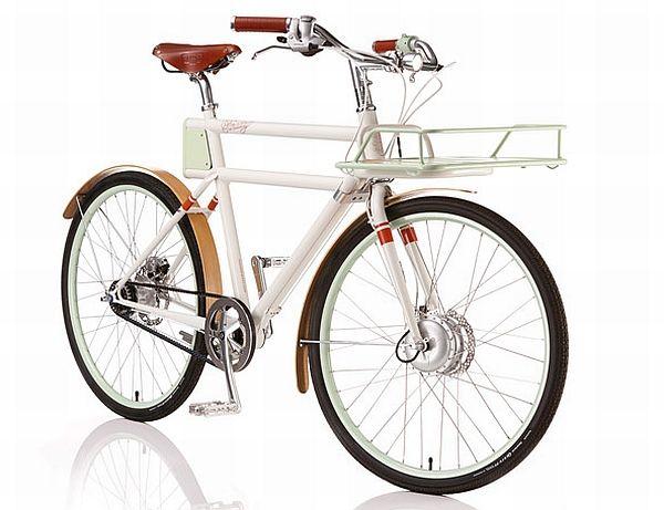 「FARADAY PORTEUR」は、1950年代の欧州のデリバリー用自転車にヒントを得た  電動アシスト自転車  大容量のカゴが取り付け可能です