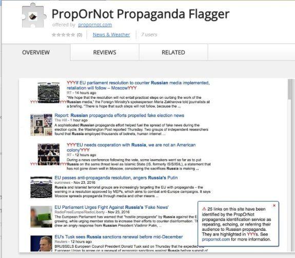"Liberal McCarthyite Website Releases App That Flags ""Pro-Russian Websites"": Includes Drudge, Infowars, Wikileaks, Zerohedge…  Jim Hoft Nov 26th, 2016"
