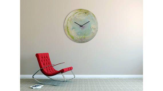 Extra Large wall clock Modern Glass Art Oversized Clock