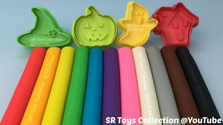 Play Doh Modelling Clay with Halloween Molds Fun and Creative for Kids