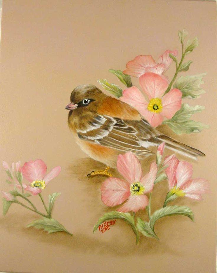 Открытки, картинки с цветами и птицами для декупажа
