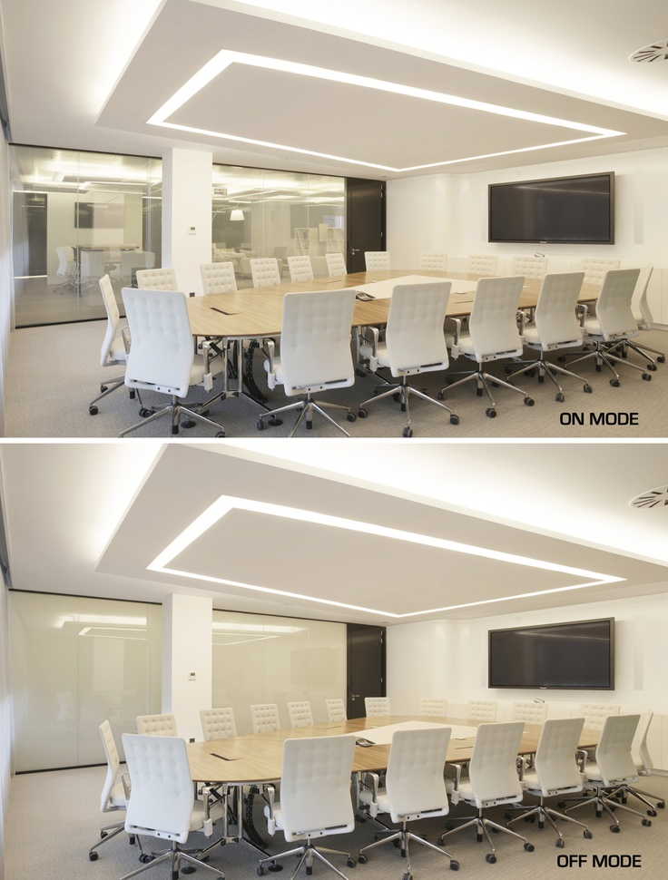 Conference room fitted with DreamGlass® Privacy Glass - SPAIN