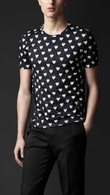 If you liked my shirt last night....here it is :)  Heart Print T-shirt