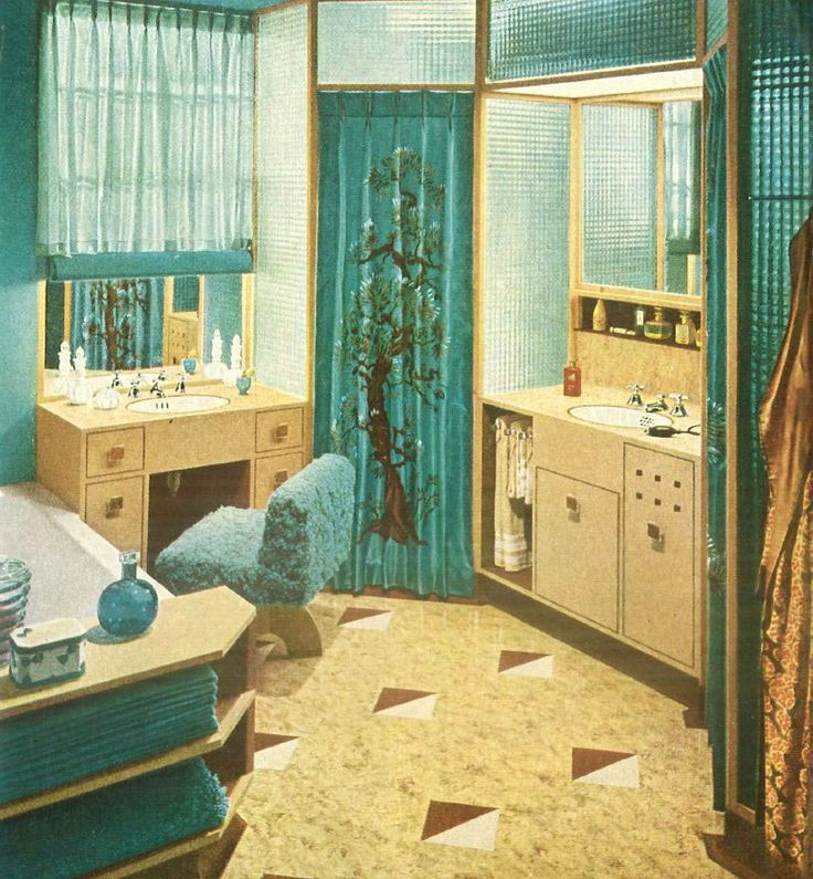 71 Best Period Perfect Bathroom: The '40s And '50s Images
