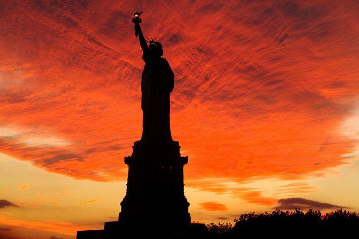Final de tarde em Nova York.  Fotografia: Eduardo Vessoni.
