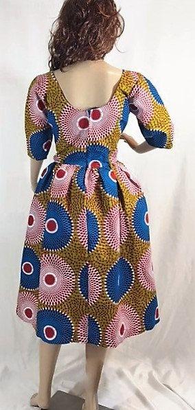Ropa Vestido de Ankara la Tracey Jacob por ChristalinePrints