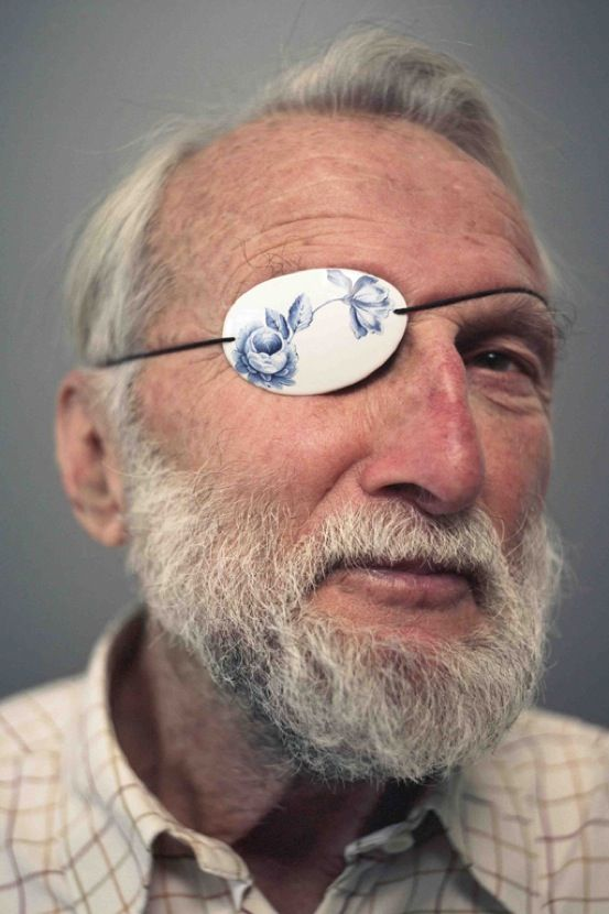 Damian O'Sullivan 100% porcelain eye patch, featured in Crafts Council / V&A 2011/12 exhibition Power of Making