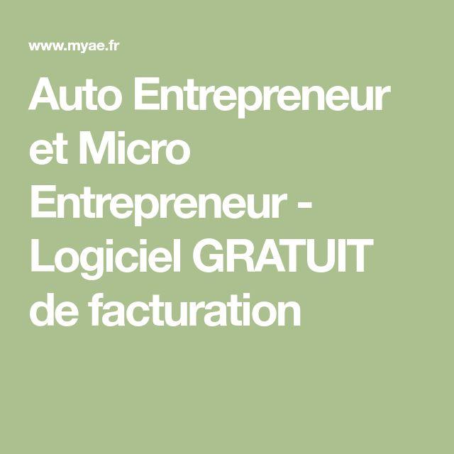 Auto Entrepreneur et Micro Entrepreneur - Logiciel GRATUIT de facturation